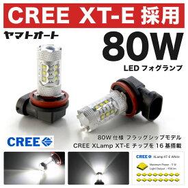 【CREE 80W】R40/50系 タウンエースノア後期 [H10.12〜H13.10]80W LED フォグ ランプ HB42個セット 【CREE XT-E 採用】バルブ デイライト トヨタ 最上級 フラッグシップモデル