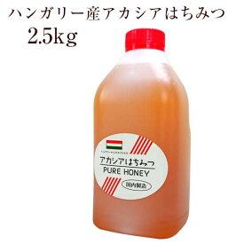 業務用 ハンガリー産アカシアはちみつ 2.5kg(ボトル)【創業75年 やまと蜂蜜厳選】