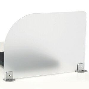 カウンター仕切板 片R付片側クランプ式のサイドスクリーン在庫切れの場合は、納期をお知らせ致します。