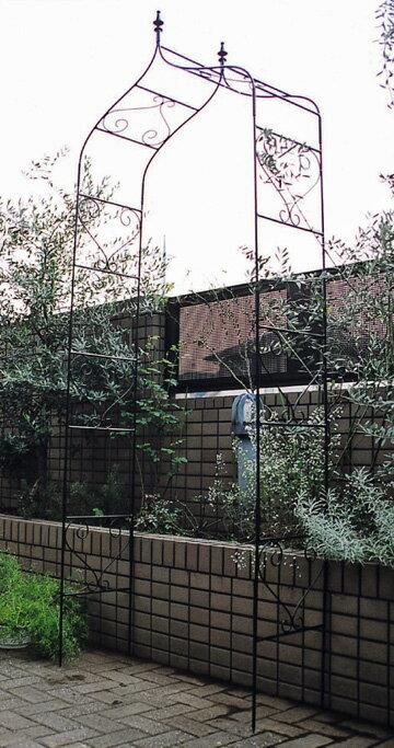 ガーデンアーチ A型 ロートアイアン はめ込み式組立 ゲート アーチ 送料無料