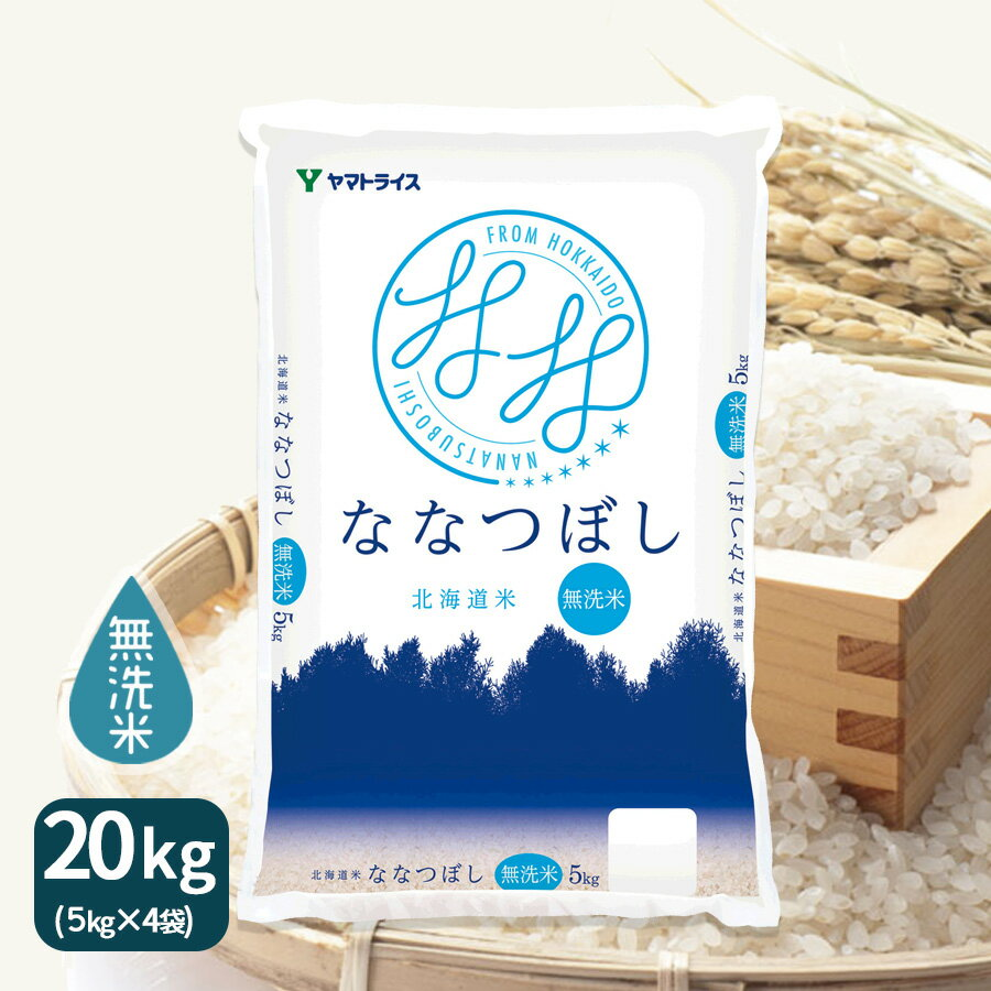 【H29年産】【送料無料】【無洗米】北海道産ななつぼし 20kg(5kg×4)【RCP】 工場直送