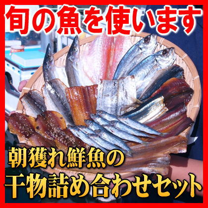 朝獲れ鮮魚の干物セット 3980円約12種類入り