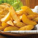 皮付きフライドポテト 1kg[冷凍食品 ニッスイ 簡単 味付け お弁当 ポテトフライ おかず お手軽 ジャガイモ フライ お…