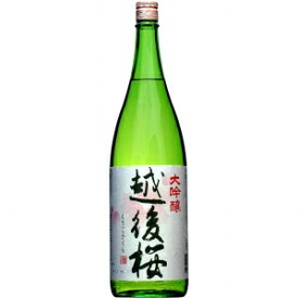 【5,000円以上送料無料】【ケース品】越後桜酒造 大吟醸 越後桜 1800ml 6本入り