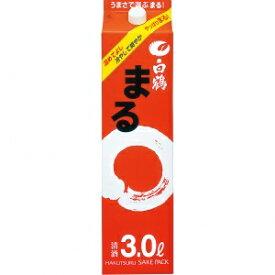 【5,000円以上送料無料】【ケース品】白鶴 サケパック まる 3000ml 4本入り