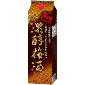 【5,000円以上送料無料】【ケース品】アサヒ 黒糖濃醇梅酒14度1800ml 6本入り