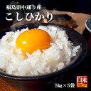 クーポン獲得ご利用で10%OFF!! 福島県中通り産 コシヒカリ 白米:25kg(5kg×5個) 令和元年産【送料無料】※一部地域を…