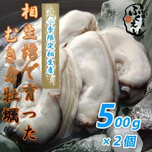 剥き身 牡蠣 500g×2個 【冷蔵便】10800円以上は送料無料 漁師が販売、とれたて新鮮な むき身 カキ です。 生食用 兵庫県 相生