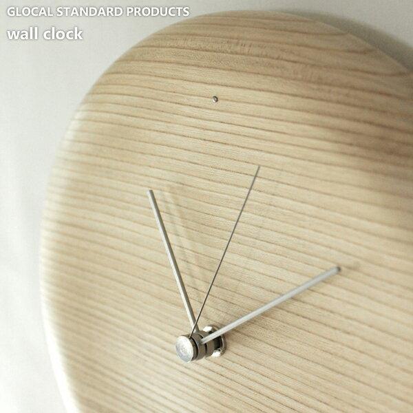 GLOCAL STANDARD PRODUCTS 「wall clock -ウォールクロック-」 天然木 掛け時計 漆器 ウッド 壁掛け 時計 おしゃれ/デザイナーズ/轆轤挽き/山中漆器 【送料無料】