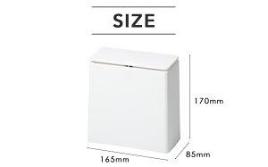 ideacoイデアコ「TUBELORminiflap(チューブラーミニフラップ)」ゴミ袋が見えないごみ箱ゴミ箱ホワイト/ブラック/グレーくずかごダストボックスおしゃれデザイン雑貨洗面所サニタリー角型