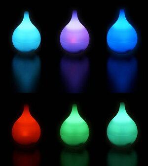 middlecolorsアロマディフューザーMD-AM906ピンク超音波式加湿LEDライトグラデーションしずく型雫タイマー付おしゃれ