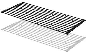 towerタワー「折り畳み水切りラックL」0783507836ホワイトブラック食器乾燥水きりシンクスペースコンパクト折りたたみ巻きキッチン用品台所用品シンプルおしゃれデザインキッチンインテリア雑貨収納山崎実業