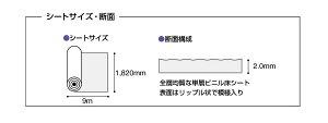 タジマアウトガス対策・耐動荷重・帯電防止性単層ビニール床シート「移動荷重用フロア・OG」厚2mm×幅1,820mm×171m選べる5色♪【受注生産品】※171mが最少受注量となります