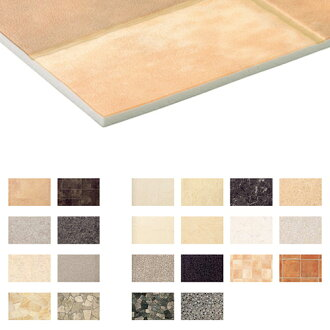 "Toli-woven fabric laminated printed foam vinyl floor sheet PF ""CF sheet - P vein pattern"" 1820 mm x 30 m (2.3 mm thick)"