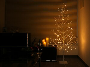 【着後レビューで選べる特典】「ブランチツリー180cm」LサイズLED:176球ウォームホワイト8パターン点灯/安全・安心30VLEDイルミネーション庭ガーデン玄関電飾ツリー木モチーフ2D3Dインテリアクリスマス屋外屋内室内防滴仕様