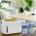 加湿器 超音波加湿器 超音波式加湿器 USB充電 コードレス MZUB-PWM10(W) USB式加湿器 加湿機 超音波加湿機 超音波式加…