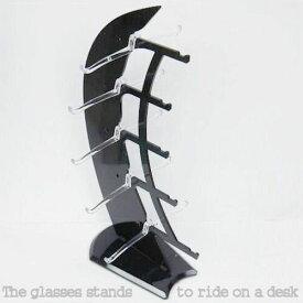 【あす楽】【宅配便送料無料】卓上 メガネスタンド 5段 組み立て式 眼鏡 サングラス