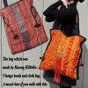 モン族刺繍古布ビーズヴィンテージトートバッグ