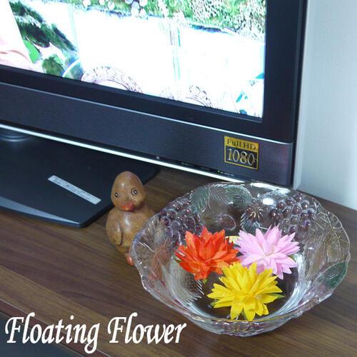 【メール便可】ロータス 蓮の花 インテリア雑貨 フローティング フラワー 造花