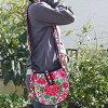 【宅配便送料無料】モン族ショルダーバッグ刺繍おわん型マグネットボタン付きNEW