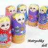 【送料無料】マトリョーシカ5個入れ子人形木製高さ約12cm