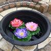 【メール便可】ロータス蓮タイフローティングフラワー造花大約17×16cm4カラー