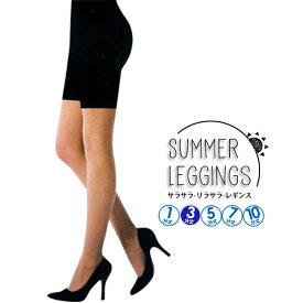 夏さらさらレギンス 3分丈 [M-L/L-LL] UV対策・ブラック ドライレギンス【RCP】(246-21/308-21)