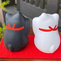 招き猫開運白黒ペア招き猫玄関や部屋に置いて福を招くお祝いやギフトに猫谷中堂
