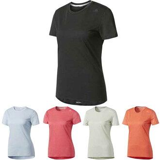 The adidas Adidas W S nova Snova リフレクトランニング short sleeves shirt Lady's / woman land, running article