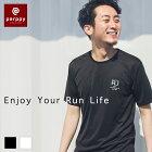 Tシャツメンズ半袖『RJ×parppy』ランニングウェアマラソンおしゃれジョギングトレイルランニングウォーキングカジュアルスポーツアウトドアメンズレディースユニセックス吸汗速乾軽量parppyパーピー
