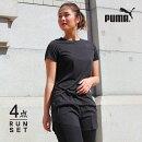 プーマランニングウェアレディースセット4点半袖Tシャツパンツタイツソックス初心者マラソンおしゃれかわいい上下女性ジョギングスポーツウォーキングフィットネススパッツレギンス靴下福袋