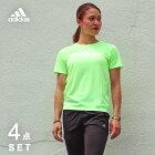 アディダスランニングウェアセットレディース4点adidas(半袖Tシャツ+パンツ+タイツ+ソックス)初心者上下女性ジョギングフルマラソンレギンススパッツ福袋ウォーキング夏秋