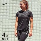 ナイキランニングウェアセットレディース4点半袖TシャツパンツタイツソックスNIKE初心者上下女性ジョギングフルマラソン福袋ウォーキング夏