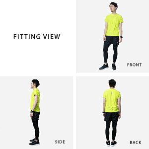 アシックスランニングウェアメンズセット3点(半袖Tシャツパンツタイツ)asics初心者上下男性おしゃれフルマラソンプレゼント福袋