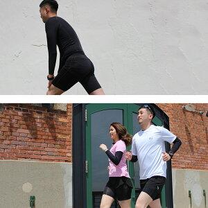 ランニングハーフタイツコンプレッションメンズレディースインナーマラソンタイツジョギングレギンススパッツ着圧サポートUVカットショートタイツ