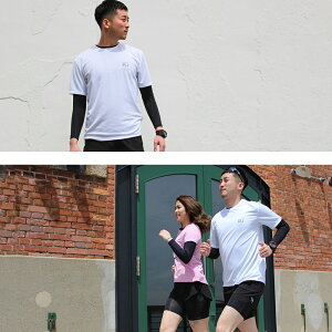 ランニングアンダーシャツ長袖丸首コンプレッション着圧メンズレディースマラソンジョギングウォーキングインナーウェア