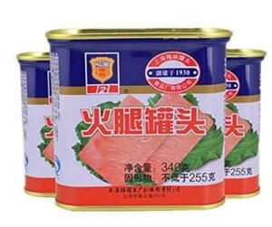 梅林火腿罐頭 火腿罐头 ランチョンミート 味付け豚肉 340g