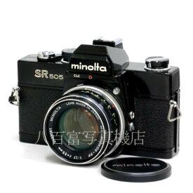 【9/26 01:59まで!!最大4,000円OFFクーポン!!】【中古】 ミノルタ SR505 ブラック 55mm F1.7 セット minolta 中古フイルムカメラ 42673