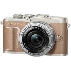 オリンパス PEN E-PL10 14-42mmEZレンズキット [ブラウン] OLYMPUS ペンライト ミラーレスデジタルカメラ
