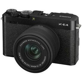 フジフイルム FUJIFILM X-E4 XC15-45レンズキット [ブラック] ミラーレスデジタルカメラ