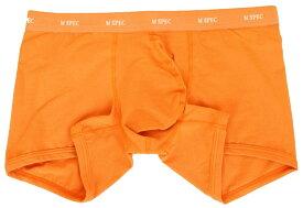3D 立体 至福のパンツ MSPEC 股間 爽快 綿 ベア天竺 ローライズボクサー メンズ 前閉じ オレンジ