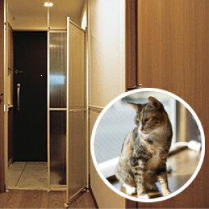 猫 脱走防止パーティション キャキャ(CatCatch)【ネコ ねこ 猫 脱走 防止 脱走防止 とびら 扉 フェンス パーテーション 猫 ドア 飛び出し事故防止 突っ張り 柵 玄関 賃貸 ゲート ケージ 脱出