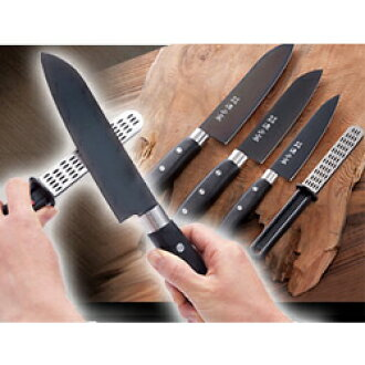 Titanium coating kitchen knife set (with the sharpener)