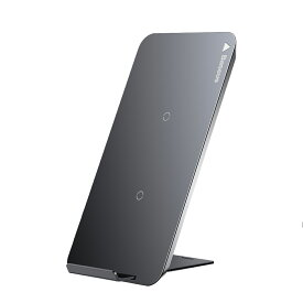 ▲送料無料!ワイヤレス充電器 Qi Baseus ワイヤレスチャージャー 急速 Quick Charge 2.0 二つのコイル 2in1 折り畳み式 置くだけ充電可 USBケーブル付き iPhone X 8 8 Plus Galaxy S8 S8 Plus Nexus など対応 Qi 充電器 スマホ スタンド機能