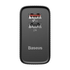 ▲送料無料!baseus Quick Charge 3.0 急速充電器 30W 2ポート USB充電器 Galaxy S8 / Plus / S7 / Edge / Xperia / Nexus 6 / iPhone / iPad スマホ タブレット モバイルバッテリー 等対応