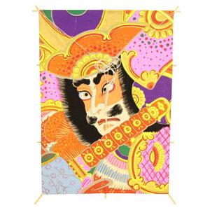 インテリア 手描き【和凧】角小凧 縦47×横33cm【ワ-7チ】武者絵 お正月飾り
