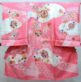 お宮参り産着 正絹 のしめ 女児 着物 高級 絞り 柄刺繍 綸子 新品(株)安田屋 n402049593