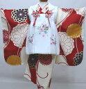 七五三 三歳 女児 被布着物フルセット 被布と着物生地は日本製 染め加工日本 縫製と長襦袢は海外 新品 (株)安田屋 b…