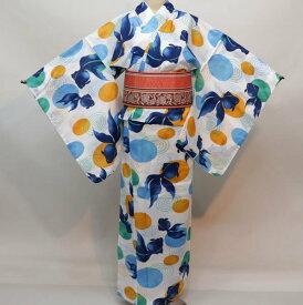 浴衣 仕立て上がり 女性用 4L 173-178cm 綿100% ゆかた単品 新品(株)安田屋 l527026075