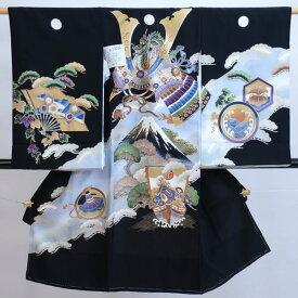 お宮参り 産着 男児 男の子 正絹 のしめ 着物 祝着 初着 一つ身 紋付き 羽二重 新品 (株)安田屋 k526057235